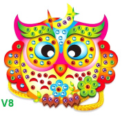 GGG EVA Diamond Cartoon Handmade DIY Hand-sewn Bag 3D Stickers Educational Toy Owl