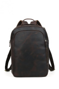 Tiding Men's Brown Leather Boy School Shoulder Bag Waterproof Sports & Leisure Bags