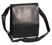 Gents Leather Bag Messenger Shoulder Cross Body ipad Record News Boy Man Bag A41 Black