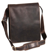 Gents Leather Bag Messenger Shoulder Cross Body ipad Record News Boy Man Bag A41 Brown