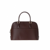 Bowling bag for women made in Italy in genuine leather with strap 2 handles DUDU Sequoia
