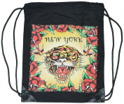 Tiger's Face Extra Large Bag With Draw String 100% Cotton