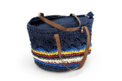 Dreiklang Beachbag Tijuana - Trendy and lightweighted shopping bag with great content. Braided Raffia, flashy colours and high wearing comfort makes this a Dreiklang- bag for every situation.