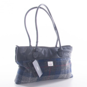 Blue Cheque Harris Tweed Tote bag