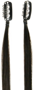 Love Hair Extensions Twin Pack Clip-In Streaks Natural Black/Copper