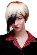 WIG ME UP ® - Lady or Men Quality Wig Cosplay short Page Bob 3 coloured red brown platinum blond long parted fringe Goth Emo SA061-33-350-613
