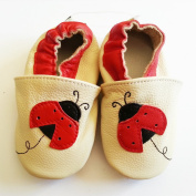 Igilli Baby Girls' Booties Beige / Rouge 0-6 Months