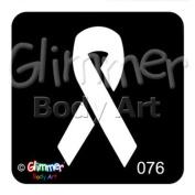 Glimmer Body Art Tattoo Stencil - Awareness Ribbon