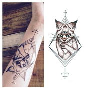 LZC 12x19cm Temporary tattoo Shoulder Arm Stickers waterproof Fashion Party Body Art Man Woman Multi Coloured Black - Bastet Cat
