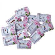 Banithani MultiColour Assorted Lot of 12 Forehead Tattoo Sticker Bindi Gift For Her