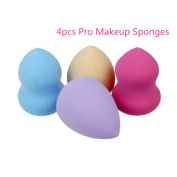 Ouneed Pro Cosmetic 4pcs Pro Beauty Flawless Makeup Blender Foundation Puff Multi Shape Sponges