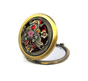 Vintage Style Compact Makeup Mirror