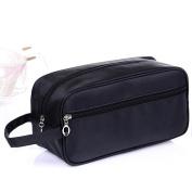 HOYOFO Mens or Ladies Toiletry Wash Bag/Gym Bag/Cosmetic Bag,Black