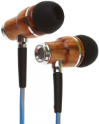 Symphonized NRG Premium Wood In-ear Noise-isolating Headphones|Earbuds|Earphones with Mic & Volume Control