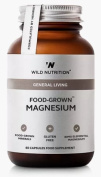 Wild Nutrition Food-Grown Magnesium 60 Capsules. Gluten Free