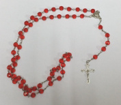 Red Rosary Beads . / Prayer Beads for everyone By Sterling Effectz