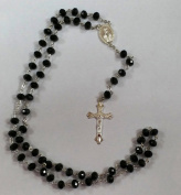Black Glass Rosary Beads . / Prayer Beads for everyone By Sterling Effectz