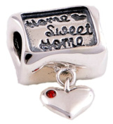 Home Sweet Home - Women's Bead for Pandora Jewellery or Similar - 100% 925 Sterling Silver