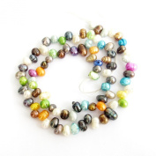 Ovalbuy One Full Strand Multi-Colour Pearl Beads Finding--85Pieces