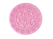 YL Flower Round A012 Lace Silicone Mould Mould Sugar Craft Cake Fondant Cake Decorating Baking Tool
