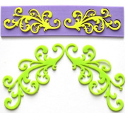 YL Symmetry Pattern A052 Lace Silicone Mould Mould Sugar Craft Cake Fondant Cake Decorating Baking Tool