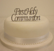 Cake Decoration Diamante First Holy Communion Plaque with Ribbon Cake Topper Set