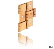 Paravent Gedotec Rolled in both directions Moving Furniture Hinge Door Hinge Set of 3| Polished Brass | Made in Germany, für Holzdicke 20 mm
