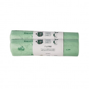 BioBag - 2 rolls of 52 (104) x 7 Litre Compostable Biodegradable Kitchen Food Waste Caddy Bin Liner Bags (7L) - EN13432