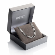 STERLL Necklace for men made of solid 925 silver, the perfect gift for husband or boyfriend, including gift box