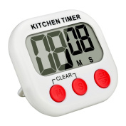 Mudder Magnetic Digital Kitchen Timer with Large LCD Display, Red-white