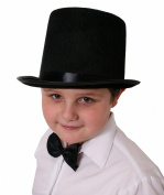 CHILDRENS BLACK TOP HAT VICTORIAN OLD ENGLAND MAGICIAN PERFECT FOR ANY FANCY DRESS PARTY FOR BOYS AND GIRLS