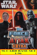 Force Attax Extra Star Wars the Force Awakens Complete Base Set of 96 cards