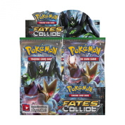"""Pokemon XY10 """"Fates Collide"""" Booster Display"""
