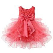 TiaoBug Baby Girls Princess Bowknot Dress Wedding Pageant Communion Party Dresses