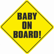 Bumper Sticker BABY ON BOARD baby safety sign car sticker 127mmx 127mm