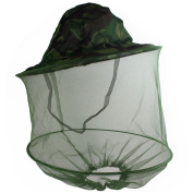 New Camouflage Mosquito Hat with Head Net Mesh Fishing Beekeeping Hat