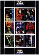 Star Wars stamps - Star Wars Episode 1 The Phantom Menace - 9 stamps. Mint and never mounted stamp sheet