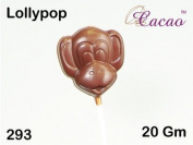 Monkey Lolly Chocolate Mould 4 Cavity