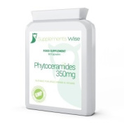 Phytoceramides Capsules 60 x 350mg Skincare Wrinkles Anti-Ageing Supplement From Rice & Sweet Potato Suitable For Vegetarians & Vegans