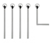 Tiny 1.5mm Ball SET OF 5 Nose Studs 925 Silver BEND YOURSELF Thin 0.6mm Bar