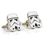 Black and White Storm Troopers Cufflinks - Star Wars Novelty Shirt Accessories for Men With Cufflinks Box