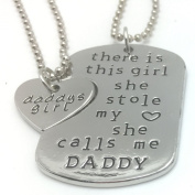 Lovely 2 Part DADDY & Daddy's GIRL Stole My HEART- Fathers Day - Necklace