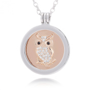 """Morella Women Necklace 70 cm 27.5"""" Stainless Steel with Coin 33 mm 1,3"""" in a velvet jewellery bag"""