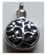 Stonesandsilver, Stainless Steel, Tree of Life Ashes Locket / Urn With FREE Chain