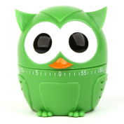 Owl Novelty Egg Timer for Kitchen Cooking Baking-Green Owl