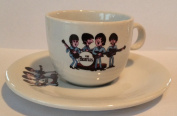 THE BEATLES cartoon ESPRESSO CHINA CUP AND SAUCER