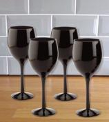 Black Wine Glasses (set of 4)