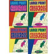 Large Print Criss Cross Puzzles - 4 Book Value Set