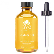 Lemon Essential Oil - Big 120ml - 100% Pure & Natural Therapeutic Grade PREMIUM QUALITY for Aromatherapy - Cold Pressed from Italy by aVo Essentials - Dropper Included
