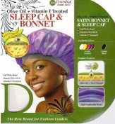 Donna's Olive Oil + Vitamin E Treated Sleep Cap & Bonnet